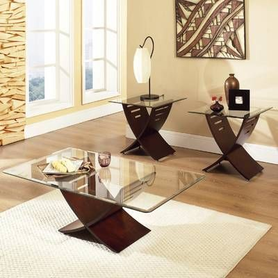 Armgard 3 Piece Coffee Table Set In 2021 Living Room Table Sets Glass Table Living Room 3 Piece Coffee Table Set Piece living room table set