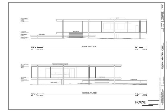 farnsworth house elevation mies van der rohe pinterest house farnsworth house and house. Black Bedroom Furniture Sets. Home Design Ideas
