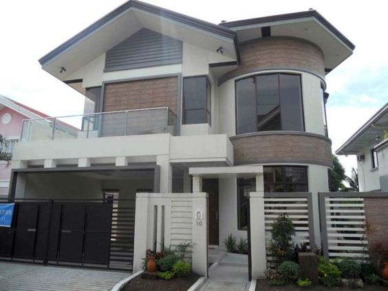 Asian house modern asian and house design on pinterest for Philippine house exterior design