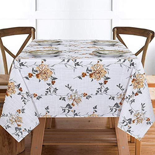 Ruvanti Table Cloth 60x104 8 10 Seats Wrinkle Free 100 Cotton Rectangle Tablecloth Washabl In 2020 Cloth Table Covers Colorful Table Table Cloth