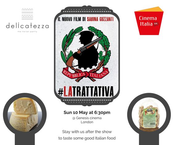 Congrats to David, the winner of 2 tickets for Sabina Guzzanti's movie on Sunday 10 May at 6:30pm at Genesis Cinema. Stay with us after the show to taste some delicious Italian food and win £50 food voucher. In collaboration with CinemaItaliauk