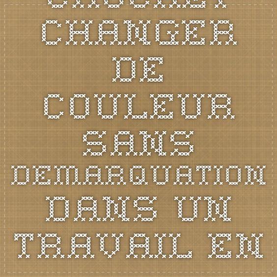 CROCHET - CHANGER DE COULEUR SANS DEMARQUATION  DANS UN TRAVAIL EN ROND/CERCLE