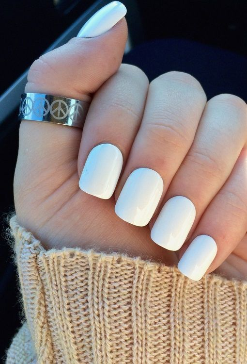 30 Simple Acrylic Nails Trends 2018 Pics Bucket White Acrylic Nails Fake Nails White Simple Acrylic Nails