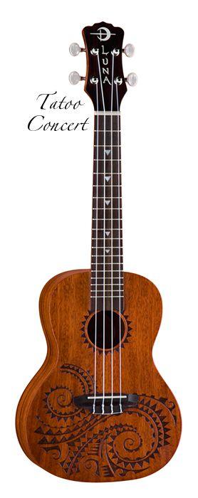 Luna Tatoo Concert Ukuele - Great little instrument