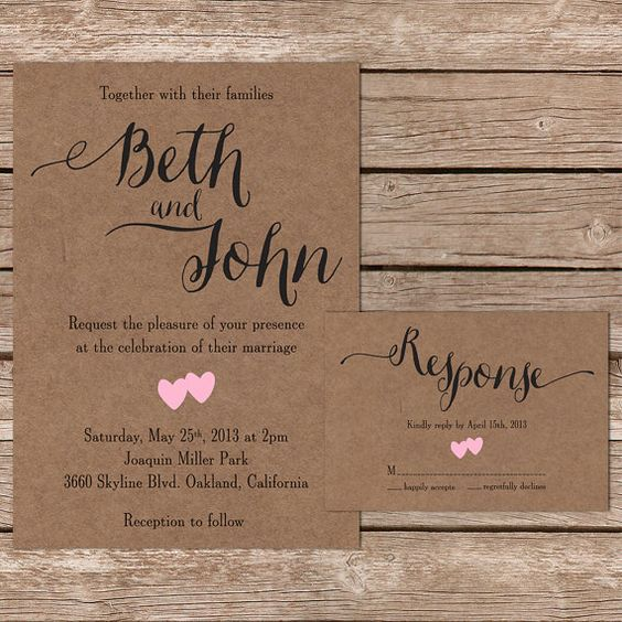 Rustic Wedding Invitation Fonts: Beautiful, Paper And Fonts On Pinterest