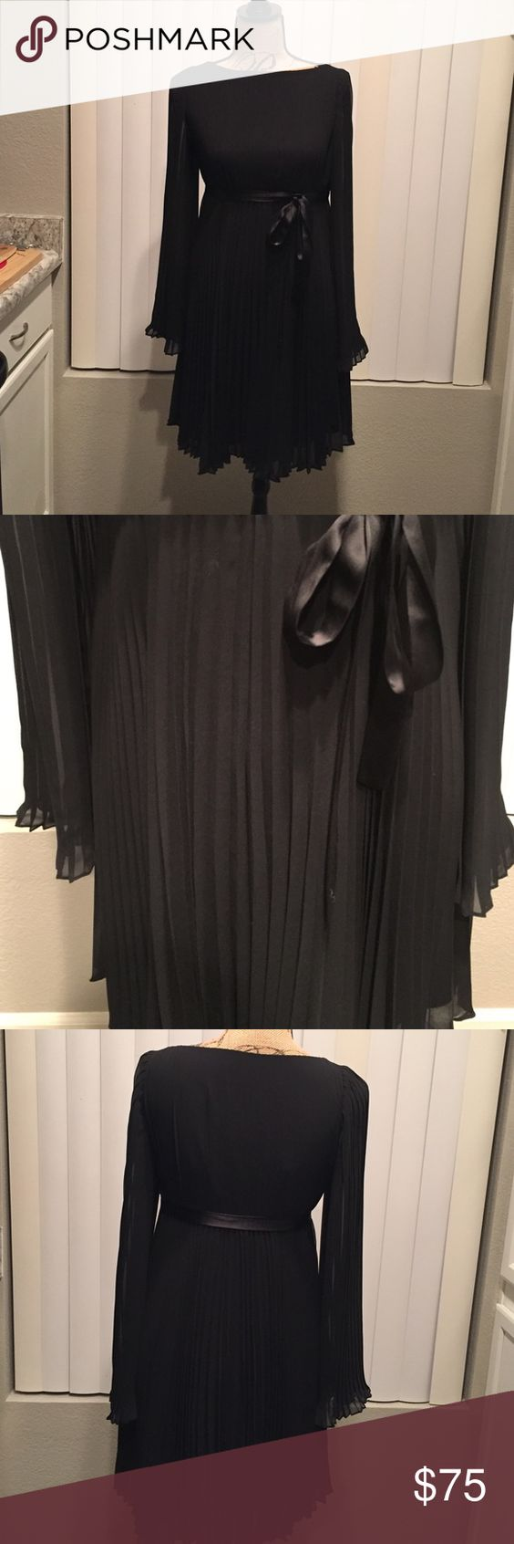 Ali Ro Fan Pleated Dress This beautiful dress is perfect for the holidays or any special occasion. It is fully lined. Ali Ro Dresses