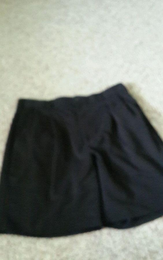 Izod Men's Shorts sz 34 Black Pleated Front Polyester #Izod #DressShorts