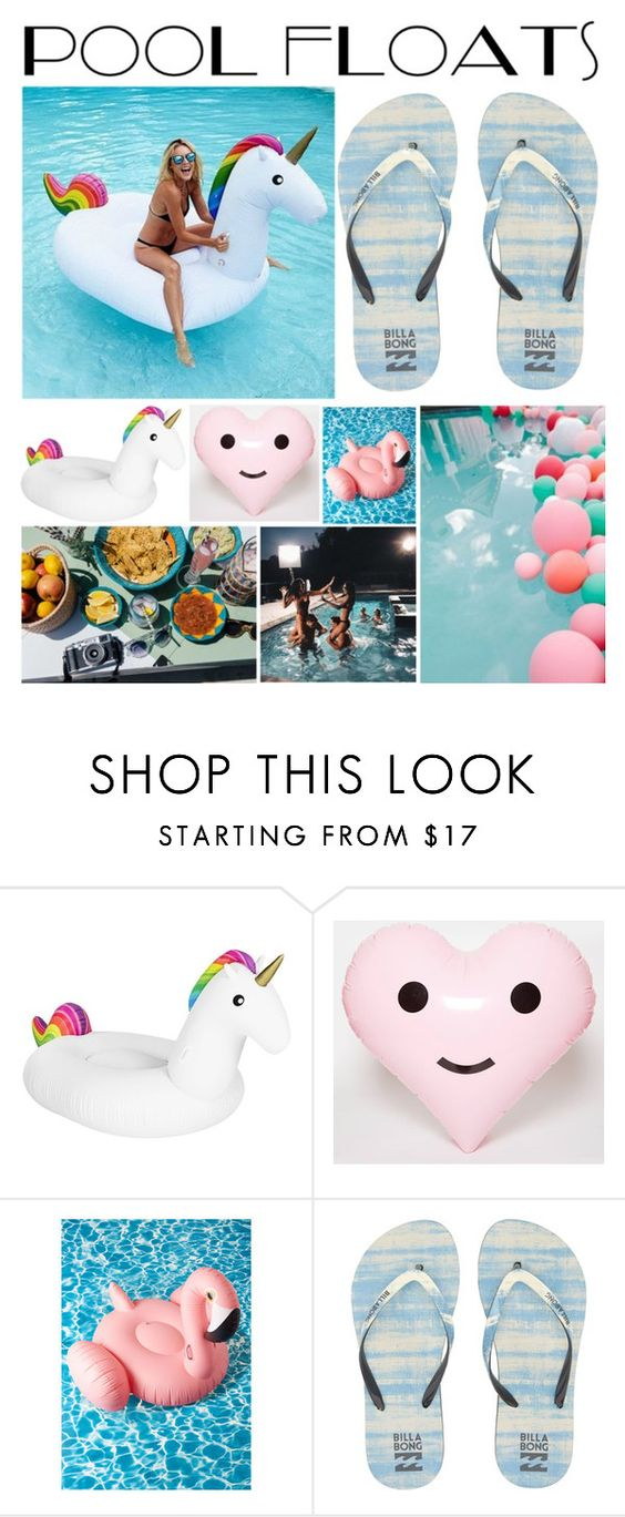 """""""Pool Floats"""" by awesome-amy ❤ liked on Polyvore featuring interior, interiors, interior design, home, home decor, interior decorating, ban.do, Billabong and poolfloats"""