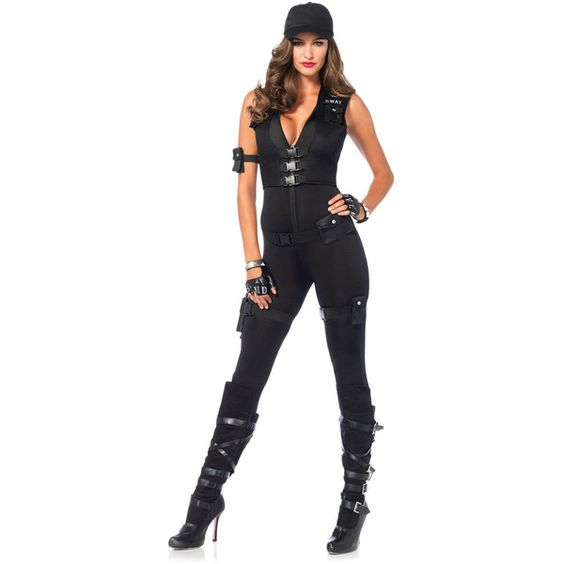 Adult Deluxe Swat Commander Sexy Costume ($70) ❤ liked on Polyvore featuring costumes, halloween costumes, multicolor, sexy costumes, leg avenue, adult costumes, deluxe costumes and sexy adult halloween costumes