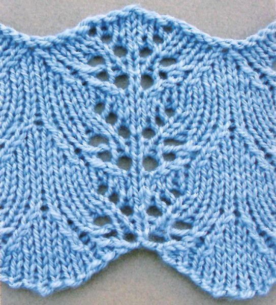 Knitting Lace Border : Larkspur lace stitch knitting border