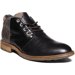 RALPH LAUREN COLLECTION Black High Polish Calfskin Brenly Half Boots