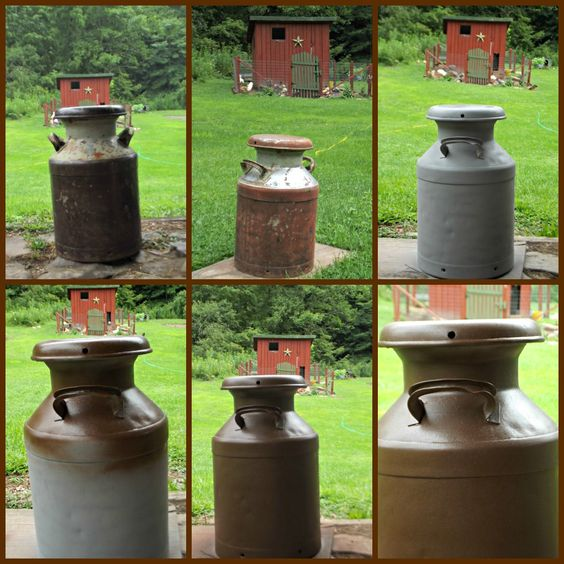 Restoring an old milk can