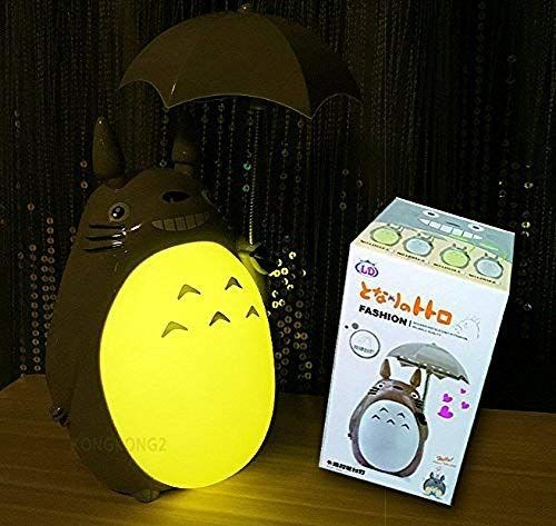 Totoro Anime Led Night Light Green Belly Kid S Character Lamp Usb Charge Desk Night Table Reading Lamp Revie Led Night Light Table Reading Lamp Night Light
