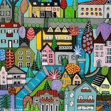 colorful landscape paintings - Google Search