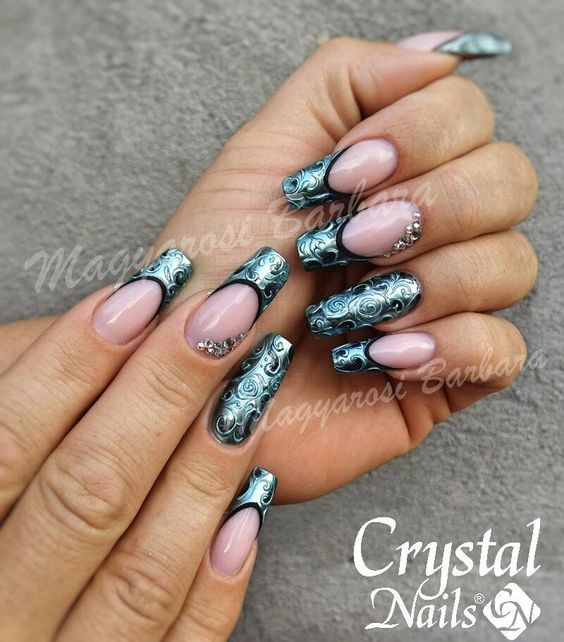 #chrome #crystalnails #u00f6sterreich #wien #Nageldesign #Nails #Fullcover #Naildesign #beauty ...
