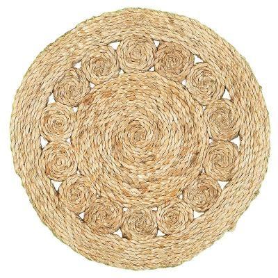 LR Home Natural Jute Circlet Placemats Set of 2 15 x 15 2 Piece