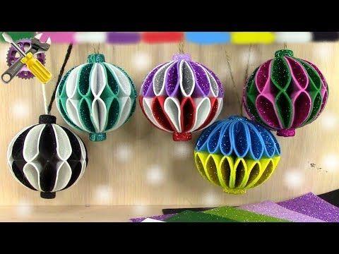 Masikbon Origami Artesanias De Papel Youtube Diy Christmas Ball Foam Christmas Ornaments Diy Christmas Tree Ornaments