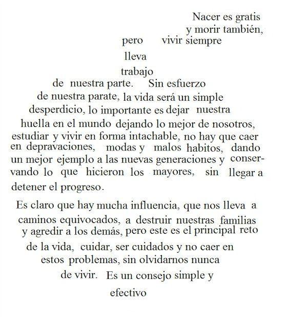 Caligrama de manzana   Poemas caligramas, Poemas de formas, Frases geniales