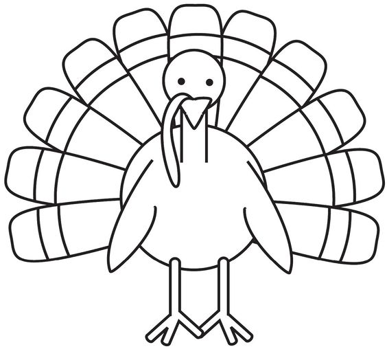 Turkey Coloring Page A4 Free Pinteres Thanksgiving Turkey Coloring Pages