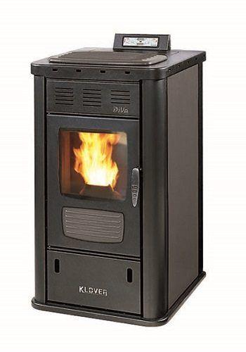 Klover diva wood pellet boiler stove klover diva silver - Klover diva mid manuale ...