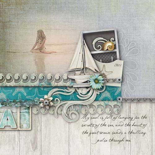 Layout using Sal de Mar by Vivia Artistry