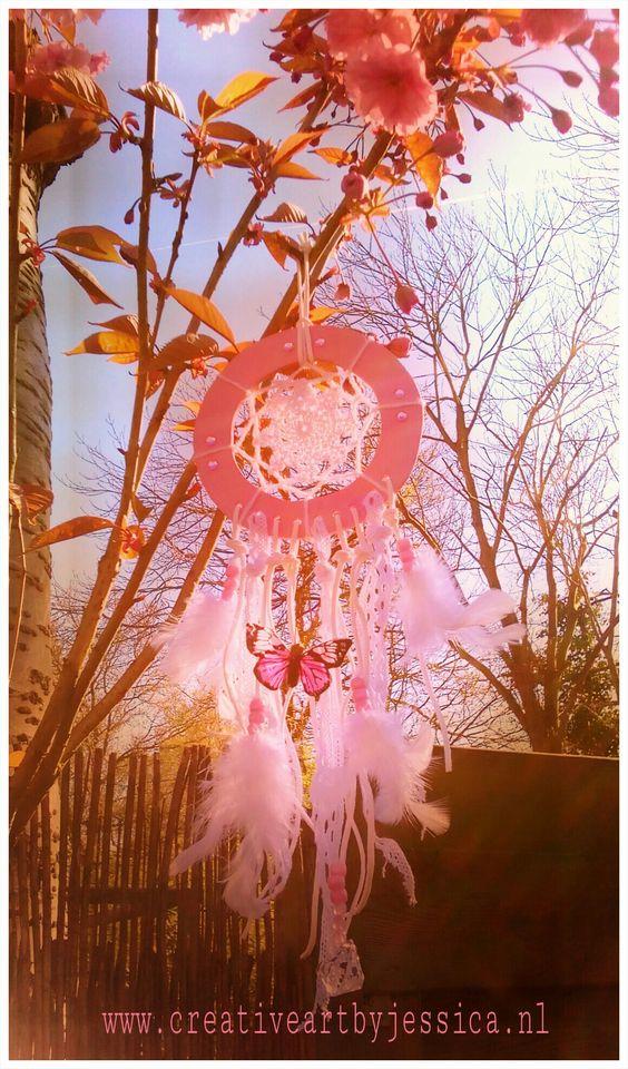 Dreamcatcher sweet pink, handmade 13x40cm for sale Www.creativeartbyjessica.nl #boho #bohostyle #hippie #hippieart #bohochic #ibiza #ibizastyle #mandala #mandalas #mandalaart #yoga #meditation #welness #design #handmade #ibizablogger #meditatie #fashion #decoratie #art #kunst #lifestyle #roundie #healing #dreamcatcher #gypsy #ibiza #bohemian #dromenvanger #hippie
