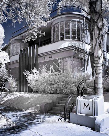 Decopix - The Art Deco Architecture Site - Art Deco & Streamline Moderne Houses -  - #Architecture
