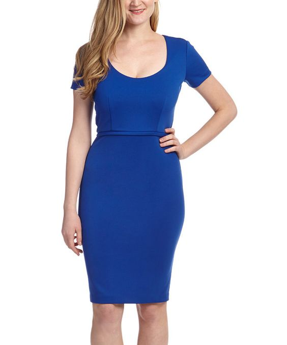 Look at this Marc Bouwer Hybrid Aqua Scoop Neck Dress - Women on #zulily today!