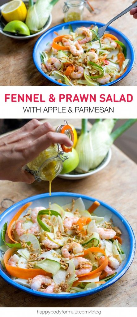 Fennel & Prawn Salad with Shaved Parmesan and Apple - gluten free, clean eating, jerf, real food, primal.