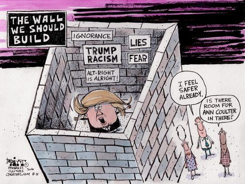 The Wall We Should Build with room enough from Trump & Coulter by Chris Britt