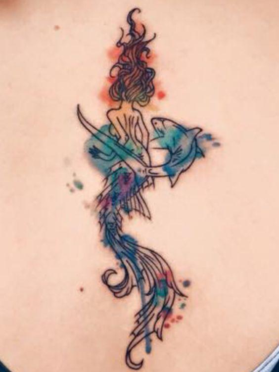Schwimmen haie and meerjungfrauen on pinterest for Mermaid tattoos pinterest
