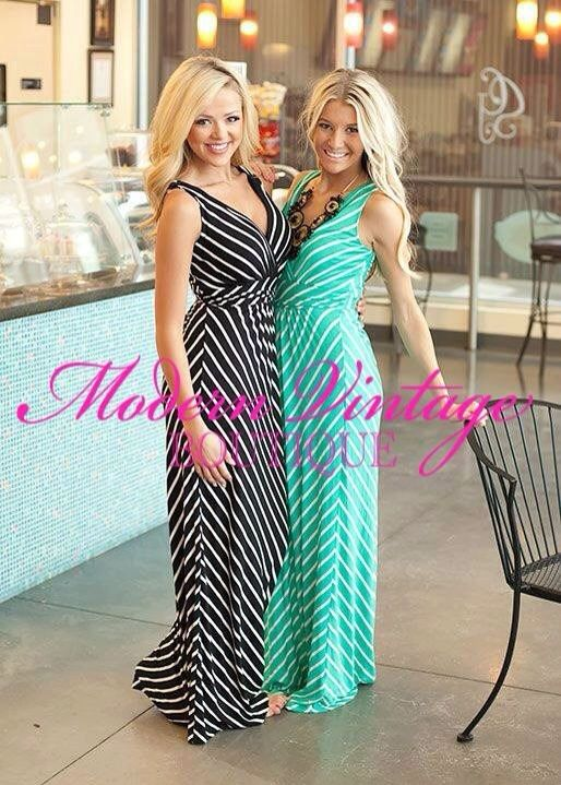 Absolutely gorgeous maxi dresses from modernvintageboutique.com and yes, I couldn't decide so I bought both! Considering putting in a slit on one side a little past the knee. V