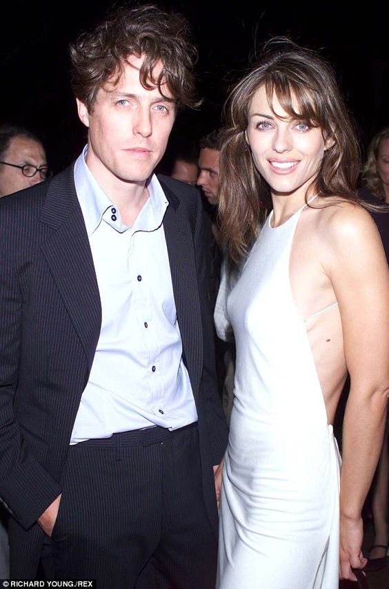 Hugh grant, Elizabeth hurley and Hurley on Pinterest