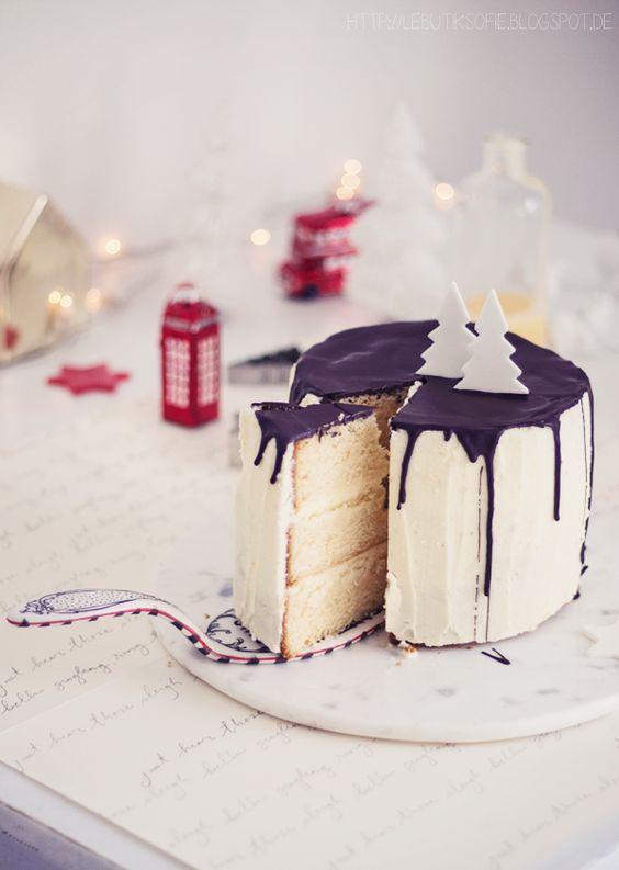 butiksofie- weisse Winter Wonderland Torte mit Eierlikör