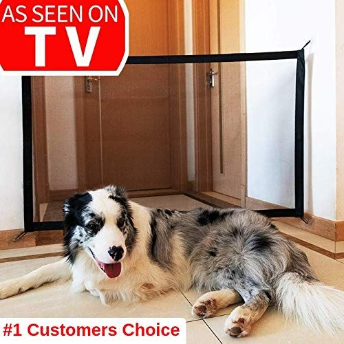 Magic Gate For Dogs Magic Gate Portable Folding Mesh Gate Guard Pet Safety Gate Safety Enclosure Safe Guard For Pet Baby Safety Fence As Seen On Tv Ad Foldin