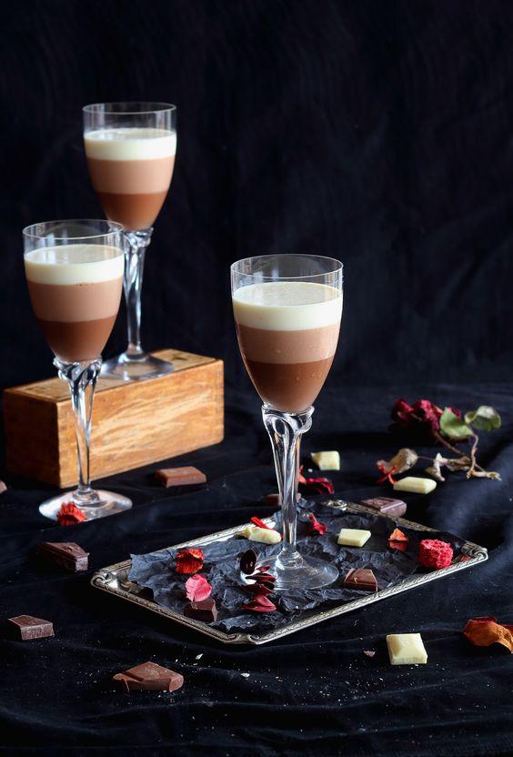 Mousse de tres chocolates  thermomix