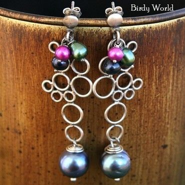 Lovely Pearls - sterling silver and pearls earrings, made by Birdy World on DaWanda