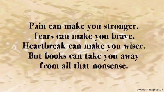 Pain, tears, heartbreak: books are the answer