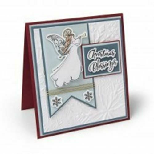 Sizzix 3D Textured Impressions Embossing Folder Winter Snowflakes 662287