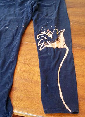 I have a few pairs of sweats that have splattered bleach on them ... this is brilliant