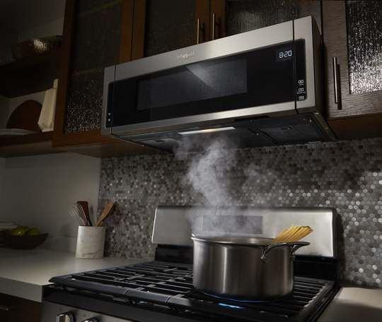 1 1 Cu Ft Low Profile Microwave Hood Combination Microwave Hood Outdoor Kitchen Countertops Outdoor Kitchen Appliances
