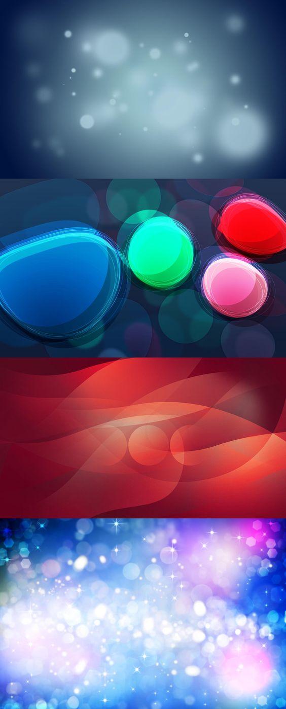 Abstract, circles, glow, light spots