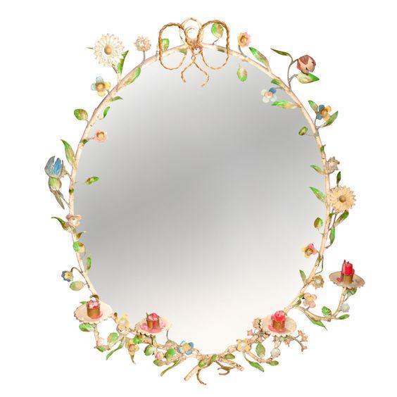 First Half of the 20thc Italian Tole Mirror
