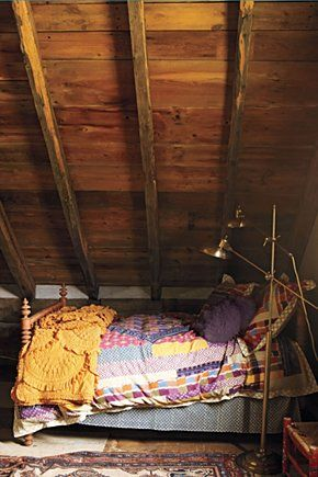 Their attic bedroom.  Only with two twin beds, and no modern appliances.