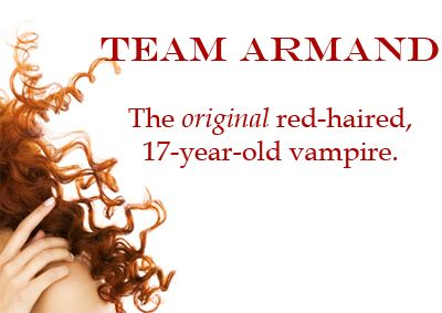 team armand: the original red-haired, 17-year-old vampire (who, bonus, doesn't sparkle)