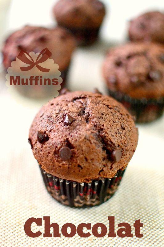 Muffins au chocolatTerriblement moelleux