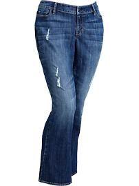 Women's Plus Distressed Boot-Cut Jeans