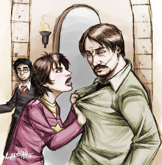 "Million Times Remus and Tonks by ~hnl on deviantART. I love how Harry is in the background like ""Wrong room!"":"
