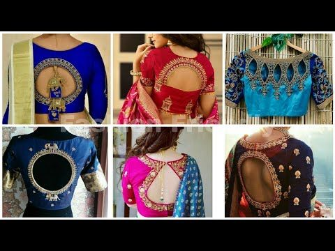 Heavy Work Silk Saree Blouse Designs Latest Blouse Design 2019