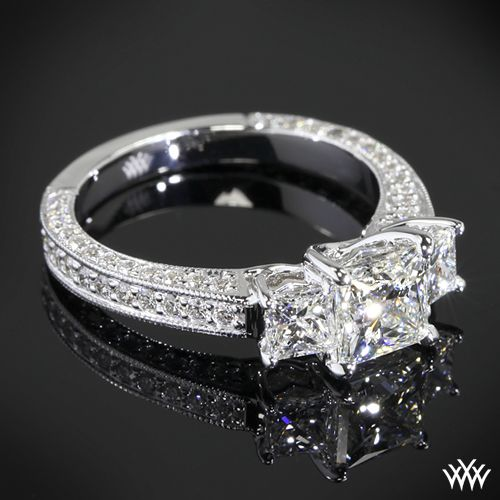 3 princess cut engagement ring oh my lord this is